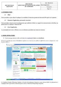 Procédure d'obtention du formulaire DP auprès du CESPHARM