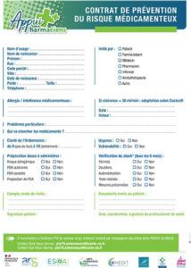 Contrat de prévention Appui Pharmacien