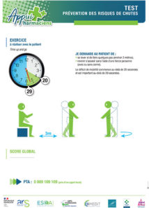 Fiche test de prévention des chutes Appui Pharmaciens