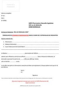 Demande d'indemnisation 2016