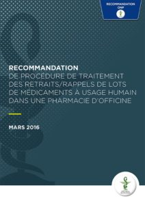 Procédure de retriat de lots de médicaments
