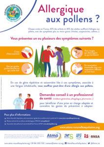 Affiche des risques Polliniques en Nouvelle-Aquitaine