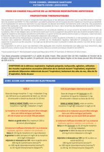 Fiche conseil de prise en charge palliative détresse respiratoire terminale COVID-19