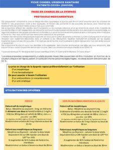 Fiche conseil de prise en charge palliative dyspnée COVID-19