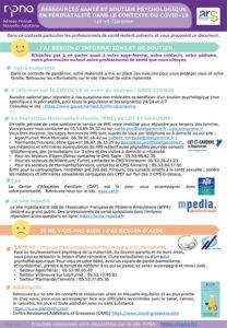 Ressources psychologiques en périnatalité dans le contexte du Covid-19 en Lot-et-Garonne