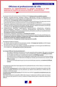 Courrier accompagnement approvisionnement officines et professionnels de ville semaine 8 juin
