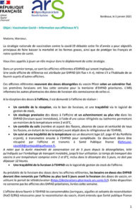 Vaccination Covid – Information aux officinaux N°1