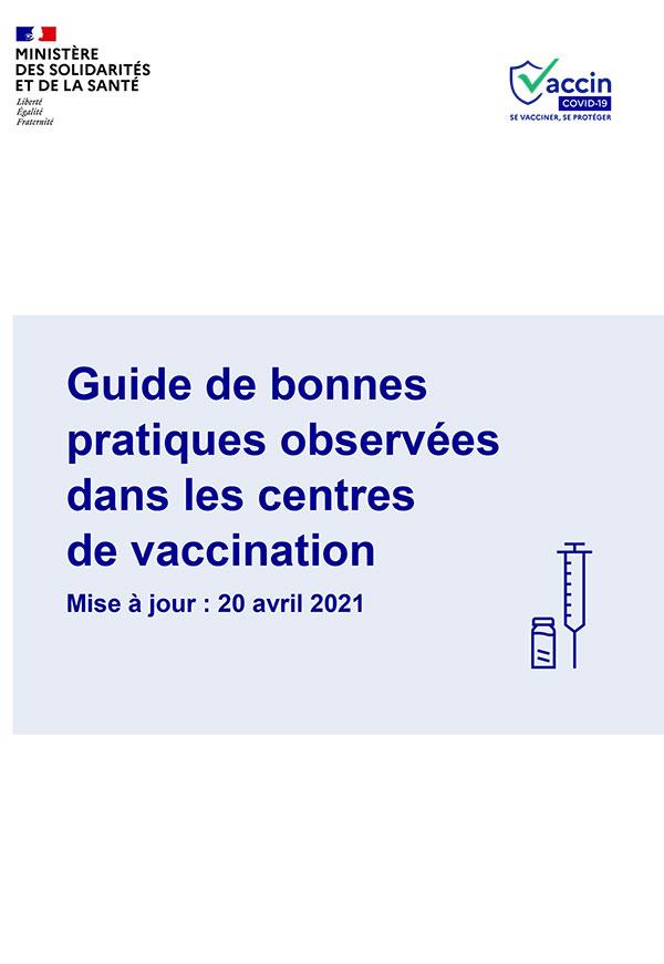 Guide des bonnes pratiques observées dans les centres de vaccination COVID-19