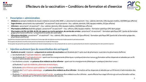 Effecteurs vaccination