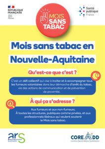 Présentation Mois Sans Tabac 2021 Nouvelle-Aquitaine