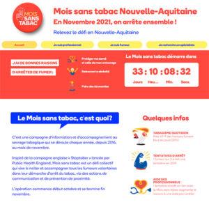 Site Mois sans tabac Nouvelle-Aquitaine